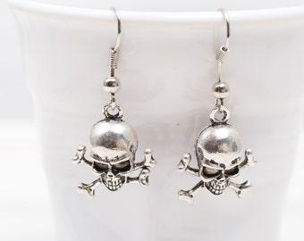 Skull Bones Roch Heavy Metal Earrings, Gift for her,  Heavy Metal jewelery, Skull Bones earrings