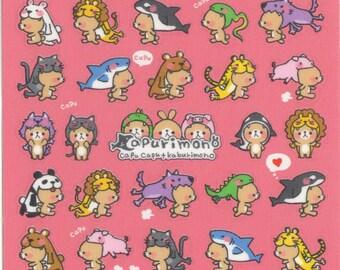 Kawaii Japan Sticker Sheet Assort: Cute Costumed Bears Capurimono Series by Mind Wave Point Stickers Planner Schedule R