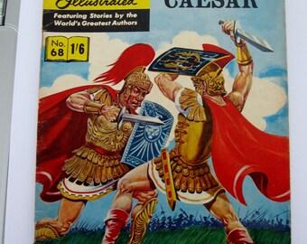 CLASSICS ILLUSTRATED CoMiC - Julius Caesar - Rare United Kingdom Edition - Printed in Sweden - HrN 134