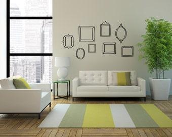 Doodle Frame - Wall Decal Custom Vinyl Art Stickers