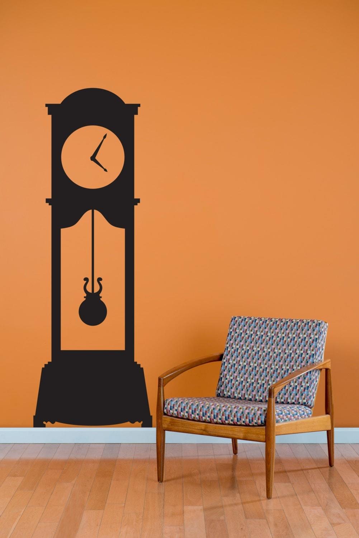 grandfather clock wall decal custom vinyl art stickers zoom