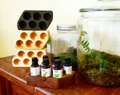 Essential Oil Display - Aromatherapy - Essential Oil Organizer - Essential Oil Storage - Essential Oil Tray - Spa Gift