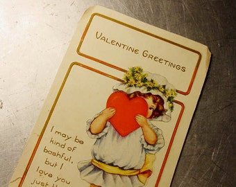VALENTINE HEART Vintage POSTCARD 1910s Whitney