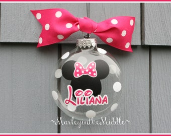 Ornament - Minnie Mickey - Personalized