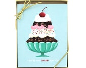 Cherry On Top Card - Set of 8