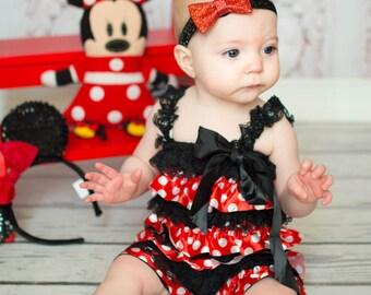 Minnie Mouse Costume Petti Romper