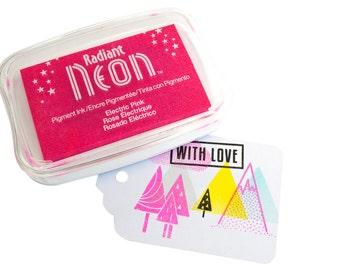 Neon Pink inkpad - Large - Tsukineko