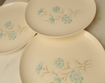 1960s Taylor Smith Dinner Plates Set of 4 Ever Yours MADE IN USA