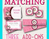 MATCHING Add-Ons to any design in shop Three Custom Designs