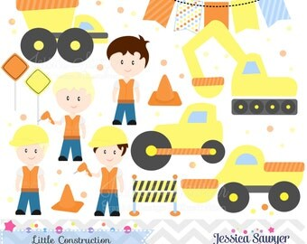 INSTANT DOWNLOAD, construction clipart, for construction party, commercial use, personal use