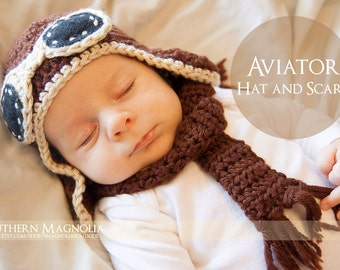 Aviator Hat and Scarf