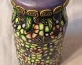 Millefiori Magic Lilac Lid Butterfly Jar