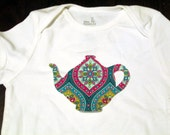 Tea Pot Iron On Applique
