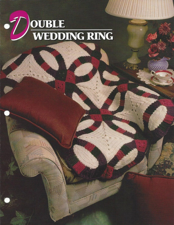 double wedding ring annie 39 s crochet quilt afghan. Black Bedroom Furniture Sets. Home Design Ideas