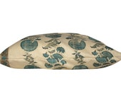 Turquoise Michael Smith Indian Flower Pillow Cover - Double Sided
