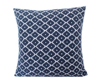 Blue Ziggurat Schumacher Pillow Cover