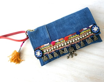 small ethnic clutch, small purse, ethnic purse, tribal purse ooak