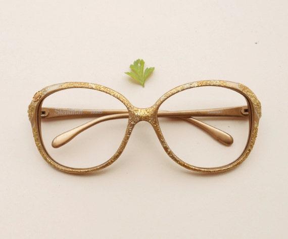 Vintage Stendhal frames / gold sparkly glitter French