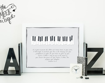 INSTANT DOWNLOAD, Piano Scripture Printable, Psalms 92:1-6, No. 265