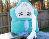 Ice Queen Towel- Ice Queen Hooded Towel- Personalized Ice Queen Towel- Kids Ice Queen Towel- Custom Towel