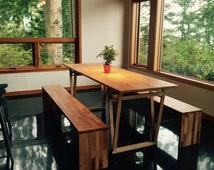 BEECHWOOD DINING SET, European Beechwood Dining Table and Benches Set, Contemporary Design from Hardman Dasein Berlin, Shipping Worldwide