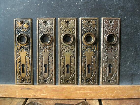 Antique Door Knob Backplate Bronze Wash Backplates Eastlake