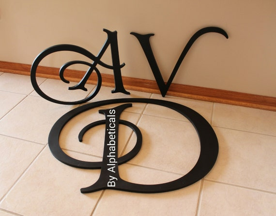Large Decorative Wooden Letters: Wall Decor Decorative Wooden Letters Wall Letters Wooden
