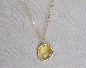 The Reanne Necklace -  Lemon/Gold