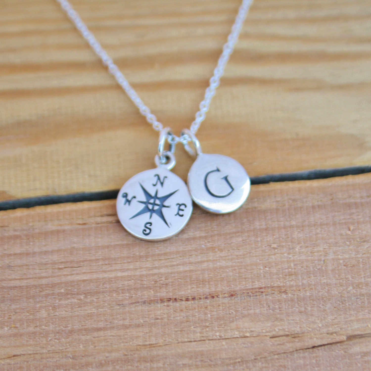 graduation necklace personalized compass necklace by