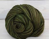 Celeste - Hand Dyed Superwash Merino Wool Fingering Sock Yarn - Colorway: Camo