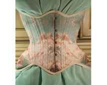 Venus Rococo Corset, Historical Corset, Fragonard, underbust corset by RetroFolie, retro, vintage look.