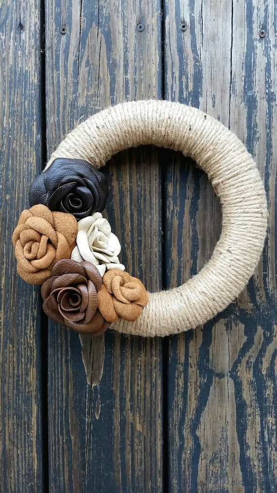 Leather and Jute Wreath