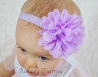 Baby Headband, Lavender Easter Headband, newborn toddler headband, baby hair bow, infant headbands, newborn photo prop, baby accessories