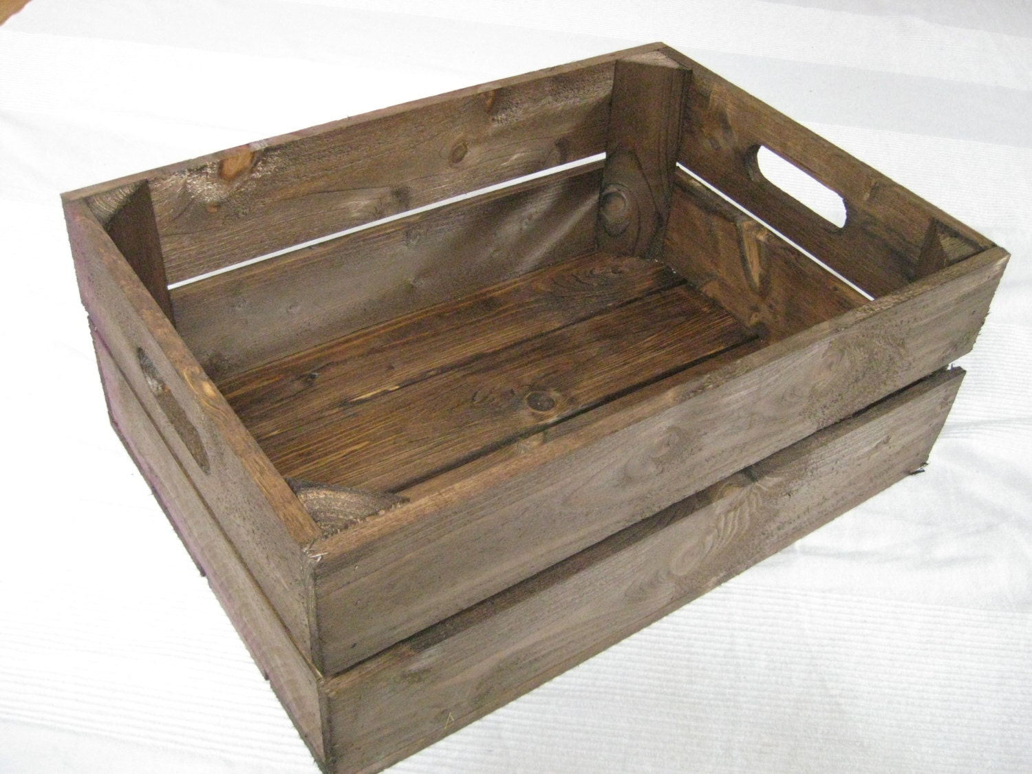 Handmade Wooden Crates. Dark Brown. FLAT SHIPPING FEES!!! Excellent Quality  Handmade