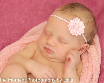 Light Pink Baby Headband, Baby Headband,  Infant Headband, Newborn Headband, Baby Headband, Small Headband, Petite Headband