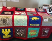 T Shirt Quilt 20 Block Memory Quilt Custom Order Quilt - Using Your Shirts-DEPOSIT ONLY