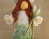 Special item for Erika - Flower Fairy Waldorf inspired needle felted doll : Spring Maiden