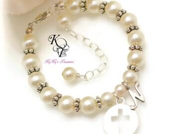 Baptism Bracelet, Personalized Baptism Gift, Christening Gift, Personalized Baby Gift, Keepsake Bracelet, Religious Baby Jewelry, Baby Gift