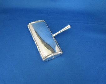 Sterling Silver .900 Silent Butler with Hinged Lid, Macabo, Milan Italy, Crumb Catcher, [Drw]