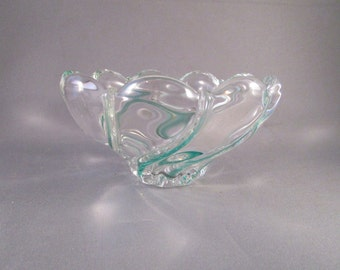 Green Crystal Italian Murano Glass Bowl - [E]