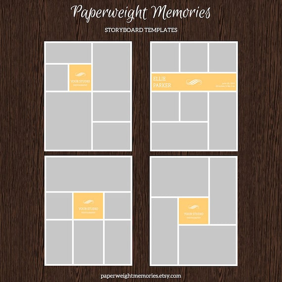 16x20 photo storyboard templates photo collage template. Black Bedroom Furniture Sets. Home Design Ideas