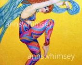 """Dance, Dancing Dancer, """"Beauty of Dance"""" Art 1900  RESTORED Antique Print, Wonderful Wall Art, Gift for a Dancer  #109"""