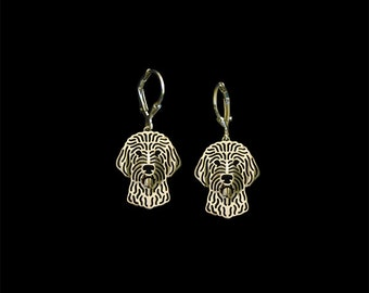 Goldendoodle earrings - gold.