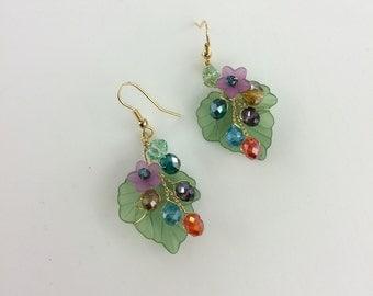 Flower earings / Dangle Earings / Wire wrapped jewelry handmade earings / Earings / Bridesmaid Earings / Earings Dangle / Earings Handmade
