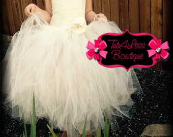 Flower girl tutu dress, Birthday girl  dress
