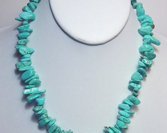 Turquoise Howlite Necklace Made in America