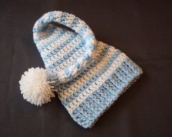 Newborn Elf Hat in Light Blue