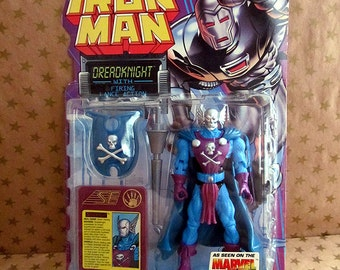 Vintage 1995 Marvel Comics DreadKnight Figure - Iron Man Character