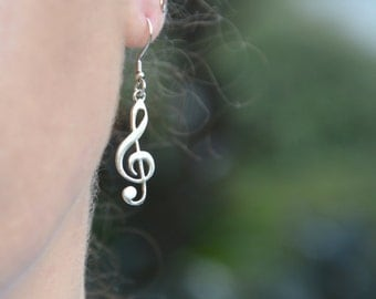 Sol Key Dangle Earrings in Sterling Silver
