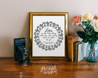 Quote Print, Printable wall art decor poster - inspirational love quotes, digital - Louisa May Alcott Little Women Printable Wisdom